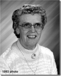 Gladys Brown photo for obituary with date